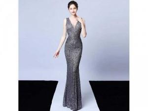 Đầm dạ hội kim sa nữ hoàng khí chất SG1