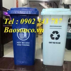 Thùng rác 120 lít công cộng ,thùng rác 240 lít y tế