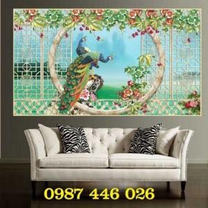 Tranh ốp tường, gạch trang trí, gạch hoa văn phòng khách 3d HP722