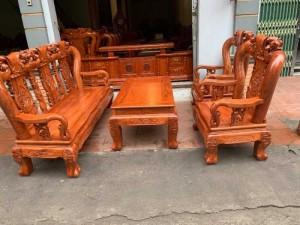 Bộ bàn ghế đồng kỵ minh quốc đào gỗ hương đ