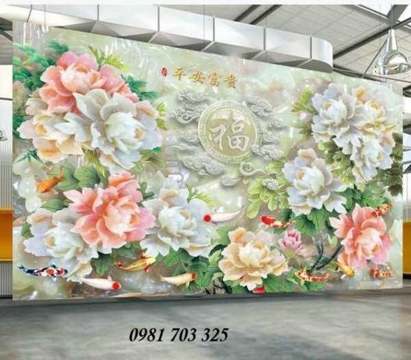 Tranh hoa- gạch tranh hoa mẫu đơn