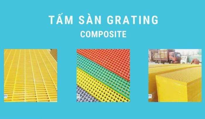 Tấm lót sàn FRP Grating – Fiberglass Grating – Composite Grating