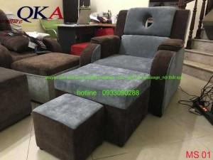 Mẫu ghế foot massage QKA 01 bọc nỉ cao cấp