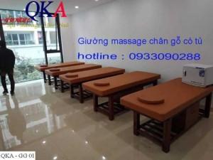 Giường massage khung gỗ QKA