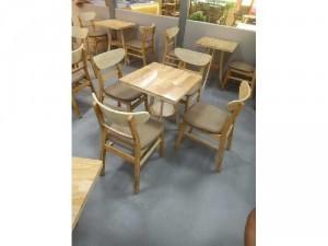 Bộ bàn ghế gỗ cafe giá xưởng