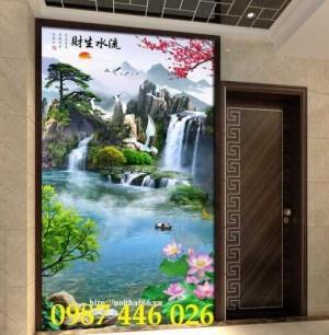 2020-11-30 08:17:22  10  Tranh phong cảnh, gạch tranh thác nước, tranh tường HP8321 1,200,000