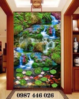 2020-11-30 08:17:22  9  Tranh phong cảnh, gạch tranh thác nước, tranh tường HP8321 1,200,000