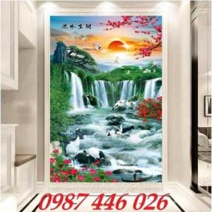 2020-11-30 08:17:22  8  Tranh phong cảnh, gạch tranh thác nước, tranh tường HP8321 1,200,000