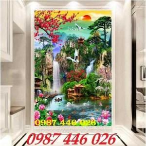 2020-11-30 08:17:22  7  Tranh phong cảnh, gạch tranh thác nước, tranh tường HP8321 1,200,000