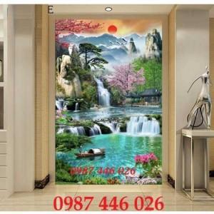 2020-11-30 08:17:22  6  Tranh phong cảnh, gạch tranh thác nước, tranh tường HP8321 1,200,000