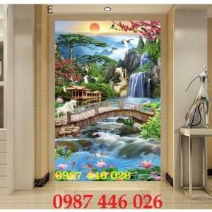 2020-11-30 08:17:22  3  Tranh phong cảnh, gạch tranh thác nước, tranh tường HP8321 1,200,000