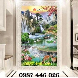 2020-11-30 08:17:22 Tranh phong cảnh, gạch tranh thác nước, tranh tường HP8321 1,200,000