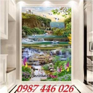2020-11-30 08:17:22  1  Tranh phong cảnh, gạch tranh thác nước, tranh tường HP8321 1,200,000