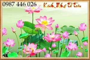 2020-11-30 08:34:14 Tranh gạch hoa sen, tranh ốp tường, tranh trang trí Hp8733 1,200,000