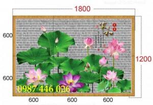 2020-11-30 08:34:14  12  Tranh gạch hoa sen, tranh ốp tường, tranh trang trí Hp8733 1,200,000