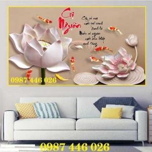 2020-11-30 08:34:14  9  Tranh gạch hoa sen, tranh ốp tường, tranh trang trí Hp8733 1,200,000