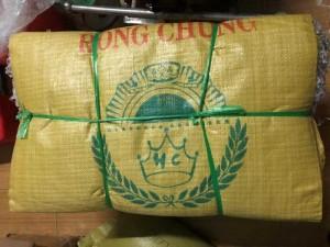Bao đựng gạo hồng chúng 50kg, bao trắng, bao có in giá tốt