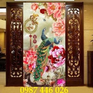 2020-11-30 09:00:33  9  Tranh gạch chim công, tranh ốp tường, gạch trang trí HP489 1,200,000