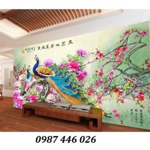 2020-11-30 09:00:33  6  Tranh gạch chim công, tranh ốp tường, gạch trang trí HP489 1,200,000