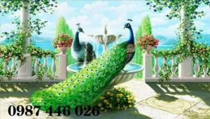 2020-11-30 09:00:33  5  Tranh gạch chim công, tranh ốp tường, gạch trang trí HP489 1,200,000