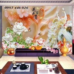 2020-11-30 09:00:33  2  Tranh gạch chim công, tranh ốp tường, gạch trang trí HP489 1,200,000