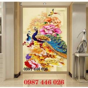 2020-11-30 09:00:33  1  Tranh gạch chim công, tranh ốp tường, gạch trang trí HP489 1,200,000