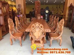 2020-11-30 13:25:05 Bộ Bàn Ăn Cổ Điển Bàn Nguyên Tấm Siêu VIP | Đẳng Cấp Gian Bếp Việt. 350,000,000