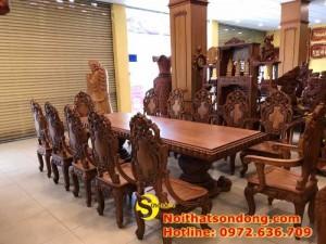 2020-11-30 13:25:05  10  Bộ Bàn Ăn Cổ Điển Bàn Nguyên Tấm Siêu VIP | Đẳng Cấp Gian Bếp Việt. 350,000,000