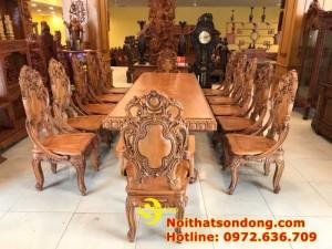 2020-11-30 13:25:05  6  Bộ Bàn Ăn Cổ Điển Bàn Nguyên Tấm Siêu VIP | Đẳng Cấp Gian Bếp Việt. 350,000,000
