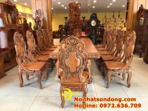 2020-11-30 13:25:05  4  Bộ Bàn Ăn Cổ Điển Bàn Nguyên Tấm Siêu VIP | Đẳng Cấp Gian Bếp Việt. 350,000,000