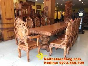 2020-11-30 13:25:05  2  Bộ Bàn Ăn Cổ Điển Bàn Nguyên Tấm Siêu VIP | Đẳng Cấp Gian Bếp Việt. 350,000,000