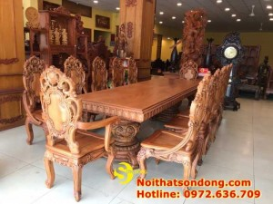 2020-11-30 13:25:05  1  Bộ Bàn Ăn Cổ Điển Bàn Nguyên Tấm Siêu VIP | Đẳng Cấp Gian Bếp Việt. 350,000,000