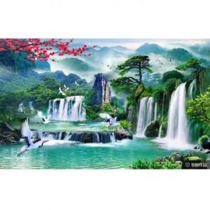 Tranh phong cảnh - tranh gạch 3D trang trí phòng