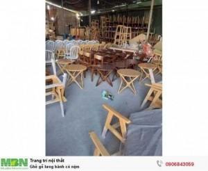 Ghế gỗ lưng bành có nệm