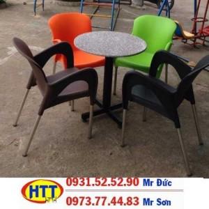 Xả kho bàn ghế cafe nhựa giá rẻ HTN091