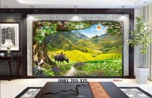 Tranh gạch men 3D phong cảnh- gạch tranh