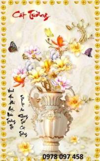 Gạch tranh bình hoa - mẫu tranh mới