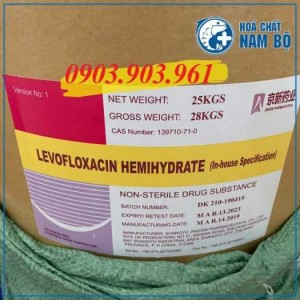 Nguyên liệu LEVOFLOXACIN nhãn tím (mới) kháng sinh cho Thủy Sản (25kg/thùng)