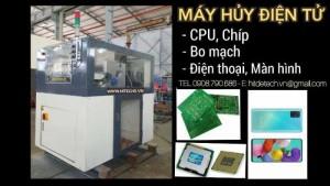 Máy Nghiền Xay Hủy Chíp CPU điện tử 2 trục