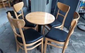 Bộ bàn ghế gỗ cafe giá rẻ