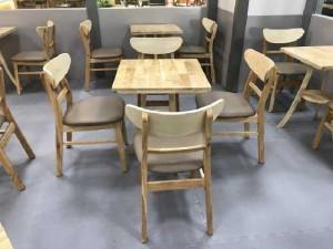 Bộ bàn ghế gỗ cafe giá rẻ tại xưởng