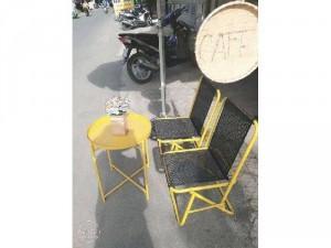 Bàn ghế xêpa lò xo giá rẻ