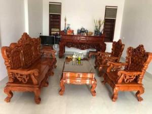 Bộ bàn ghế mẫu mới hoàng gia gỗ hương đá