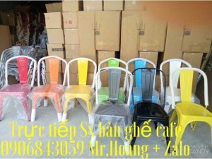 Ghế sắt cafe đủ màu giá rẻ