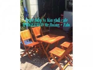 Bàn ghế xếp gỗ cafe giá tốt tại cửa hàng
