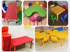 Chuyên bàn ghế, đồ dùng, đồ chơi dành cho trẻ em mầm non