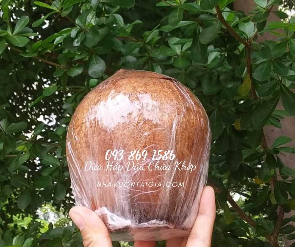 Dừa Đậu cho người đau lưng  liệu trình 10 trái