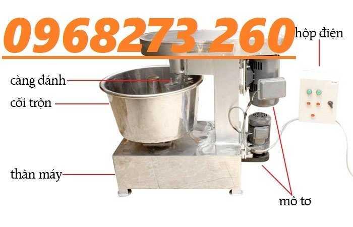 Máy trộn bột nhào bột làm bánh 50L 10kg lần trộn