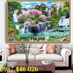 Tranh phong cảnh, gạch 3d, tranh trang trí HP575