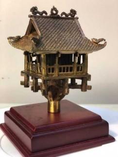 Mô hình chùa một cột,quà tặng danh lam thắng cảnh Việt Nam